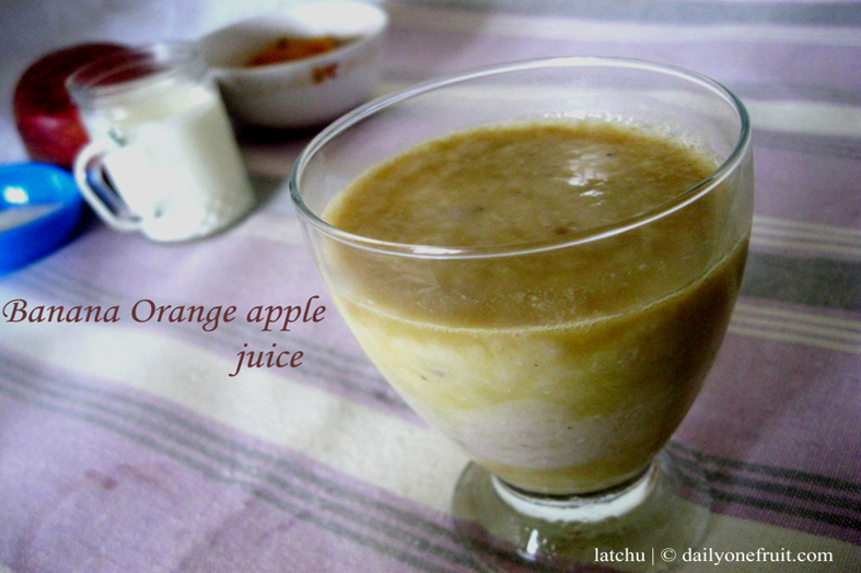 Prepare Banana Orange apple juice