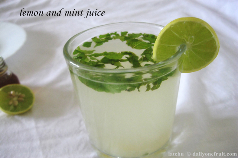 Refreshing lemon mint juice