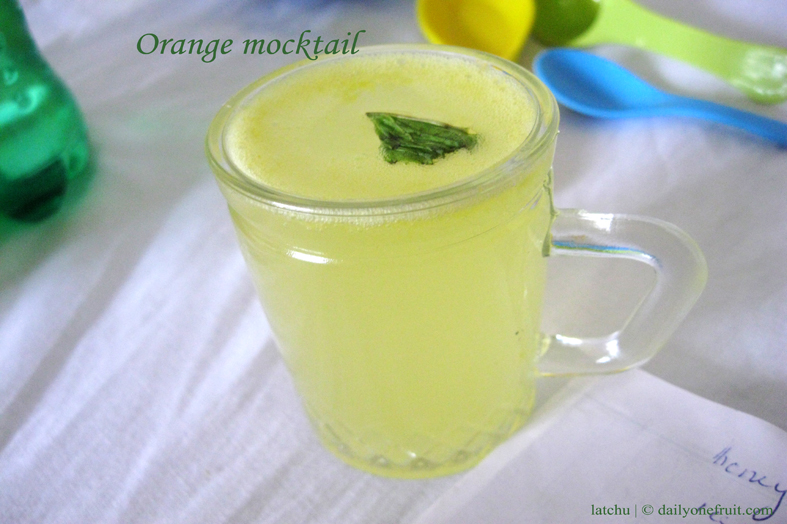 Prepare Orange Mocktail