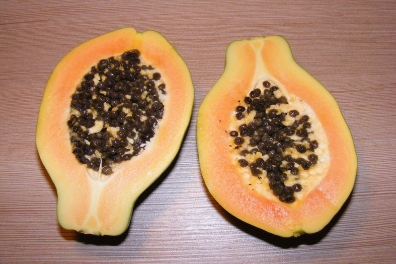 A cup of Papaya after a meat meal