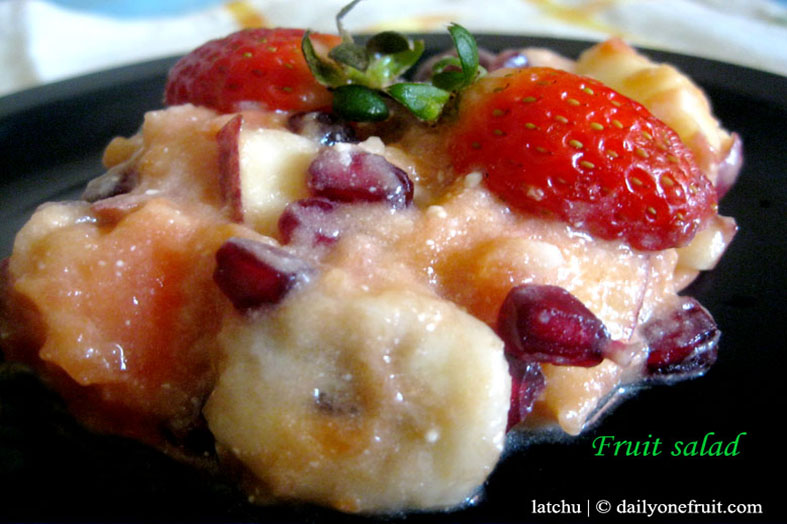 Prepare Instant Fruit salad with vanilla flavour