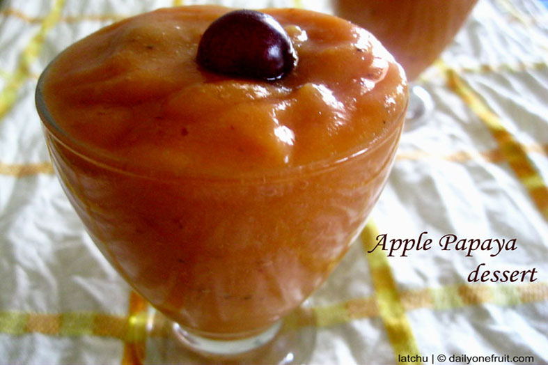 How to prepare Apple Papaya dessert