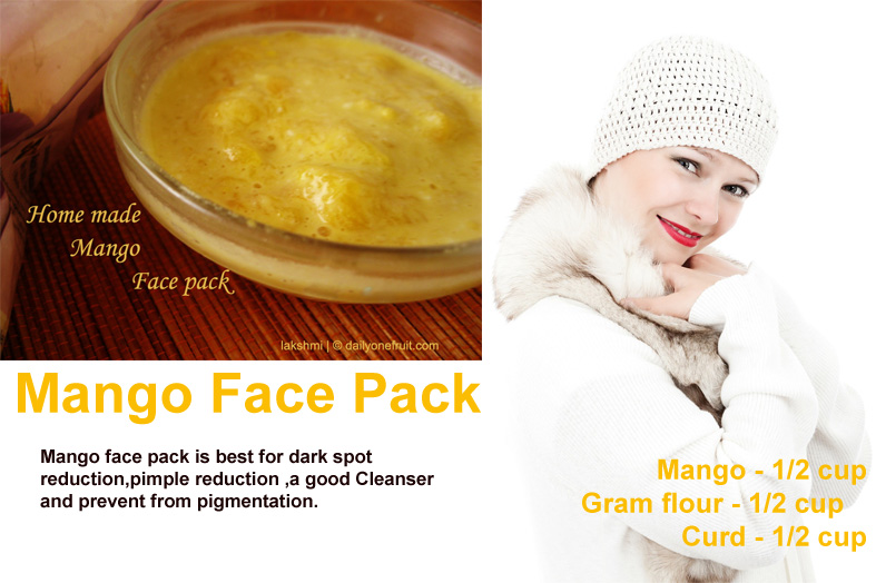 Prepare Mango face pack | act as best skin smoother