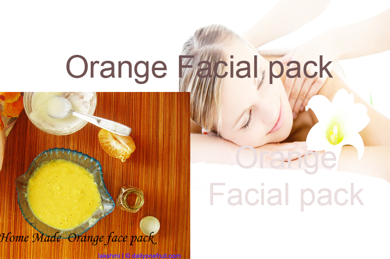 Orange Facial pack prevents skin aging
