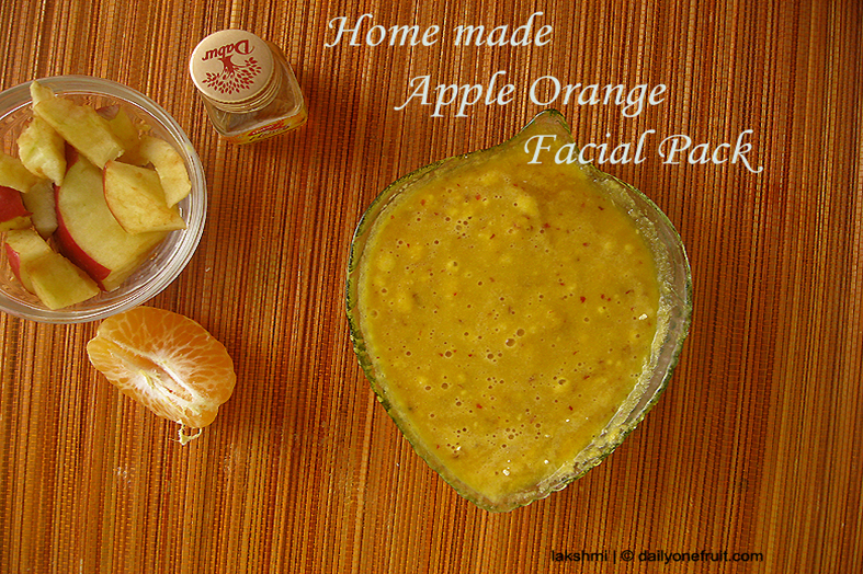 Instant Homemade Apple orange Face pack