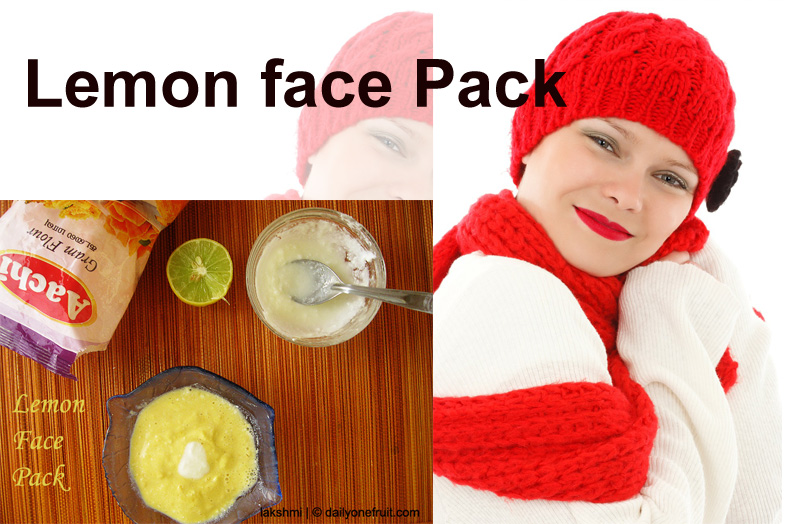 How to Prepare Lemon face pack at home