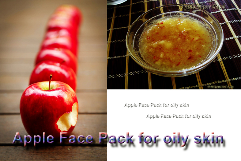 Homemade Apple Face Pack for oily skin