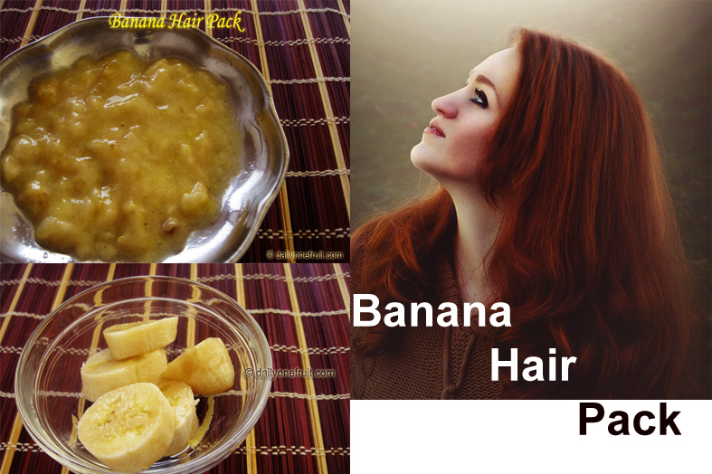 Prepare Instant Homemade Banana Hair Pack