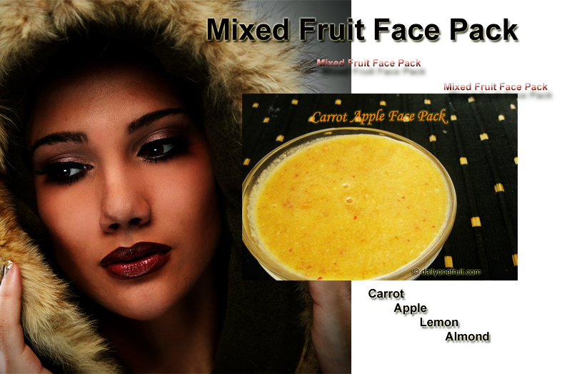How To prepare Homemade Carrot Apple Face Pack