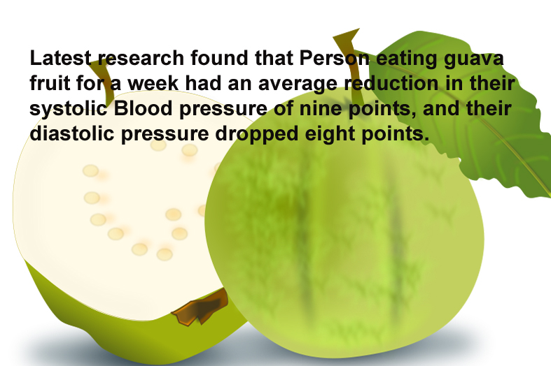 Guava fruit reduces Blood pressure