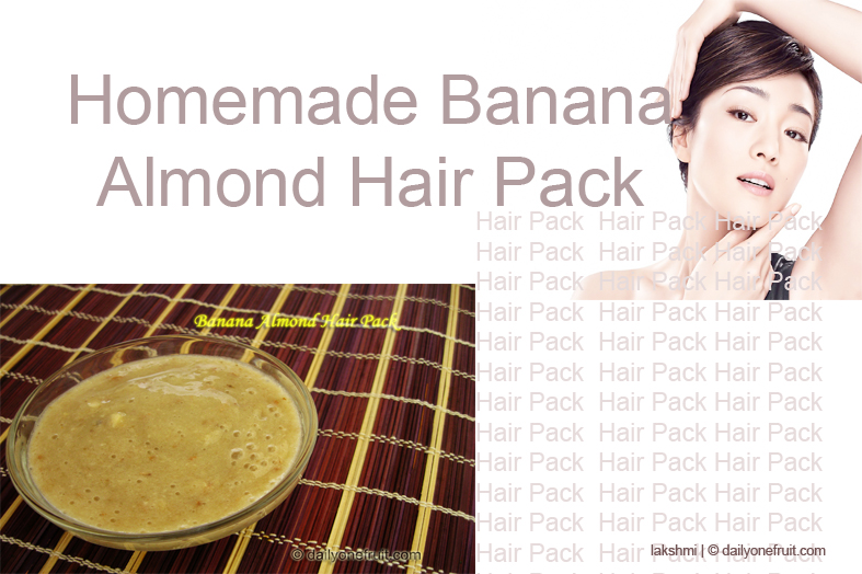 Homemade Banana Almond Hair Pack