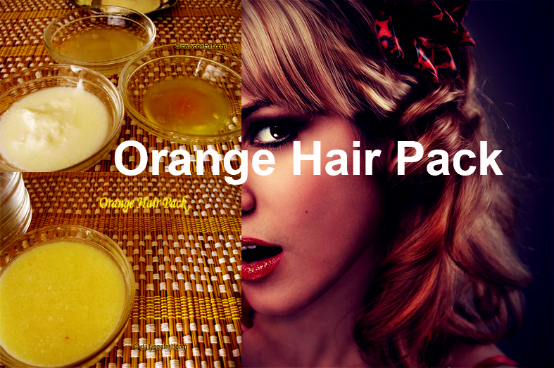 Homemade Orange Hair pack