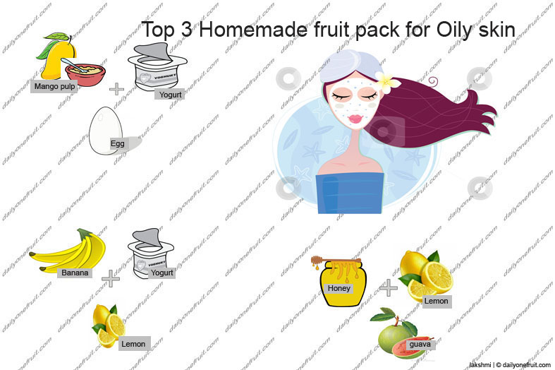 Top 3 Homemade Fruit face pack for Oily skin
