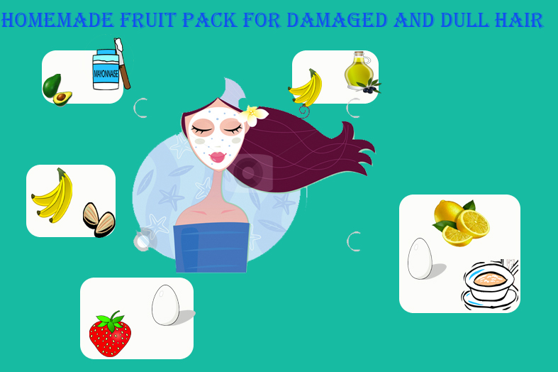 Homemade Fruit Hair pack to reduce damaged and dull hair