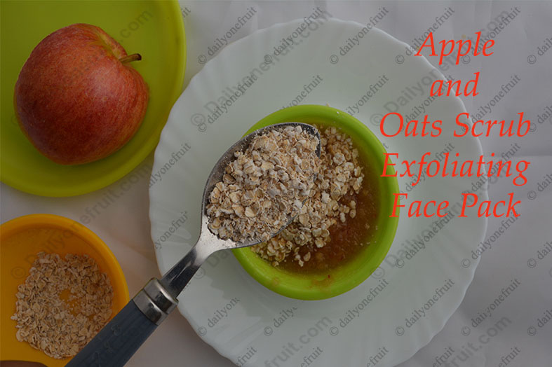 Fruit Exfoliating Face Pack and Scrub at Home