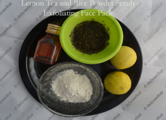 Lemon Tea and Rice Powder Exfoliating Face Pack