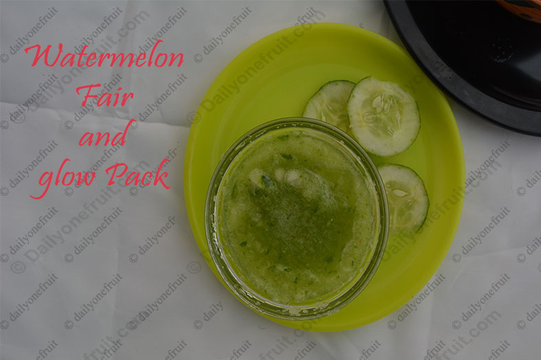 Watermelon Homemade Face Pack for Glowing Skin in Summer