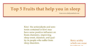 Top 5 Fruits that help you in Sleep