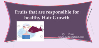 Fruit that are responsible for healthy hair growth