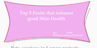 Fruits that fight against skin damages