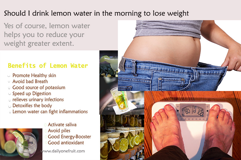 Lemon Water in the morning to Lose weight