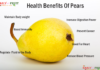 pear nutrition chart