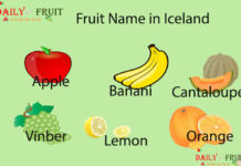 Fruit Name in Iceland